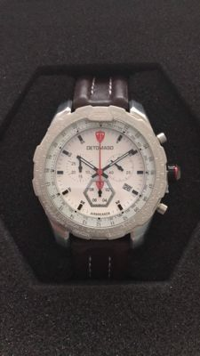 Detomaso Airbreak chronograph, silver/white - men's wristwatch