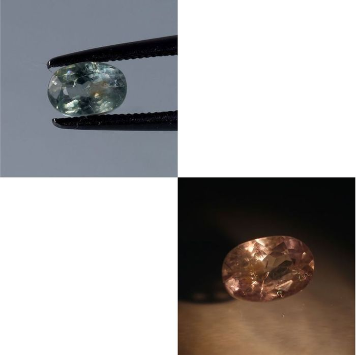 Alexandrite color change - 0.96 ct