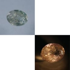 Alexandrite color change - 2.15 ct