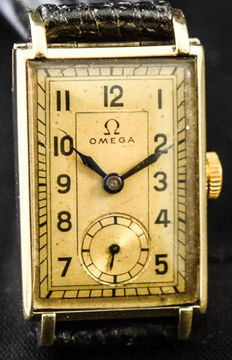 Omega-Rectangular-Gold-1930/40's-Men's-Unisex