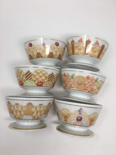 6x Rosenthal Bulgari ice cream cup