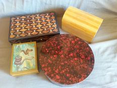 Old jewellery box and music box