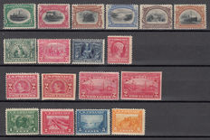 United States 1901 - lot of stamps - Michel No. 132/137, 159/161, 175, 176, 176B, 177, 177B, 203/206