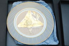 Dali Porcelain Plate Narciso Renacentista Numbered 1489 Gold