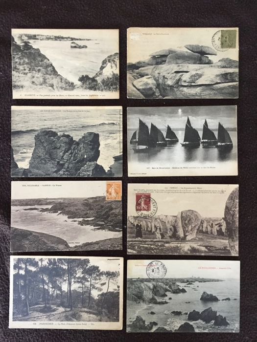 lot of about 600 postcards seaside and boats, Bretagne and various France - early 20th century to 1960s various France