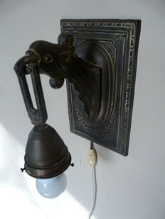 Beautiful wall lamp with decorated bird's head, Holland, ca. 1910