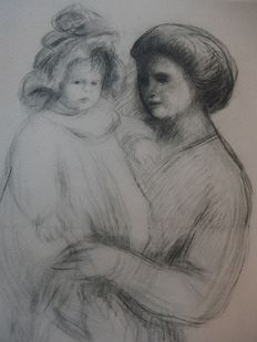Pierre Auguste Renoir (1841-1919) (after) - Claude et sa mère