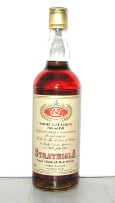 Strathisla 1948/1961, to commemorate the marriage of  H.R.H. The Prince of Wales to Lady Diana Spencer in 1981, 40% - 75cl.