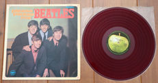 "The Beatles- Please Please Me/ Very rare Japanese pressing, 1st on Apple (after Odeon release) on RED ""low noise"" wax/ w. alternate gatefold cover & bound-in 8-page booklet"