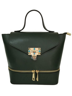 Saffiano leather bag with shoulder strap - Tuscani Leather