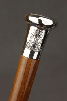 Regiments Cane with silver handle - England - 1920