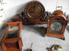 Three wooden clocks