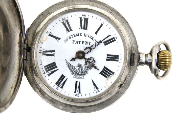 Systeme Roskopf Patent pocket watch circa 1900