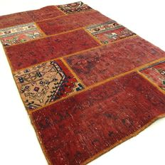 """Patchwork – 149 x 89 cm – """"Combination of the most beautiful Persian carpets in wonderful condition""""."""