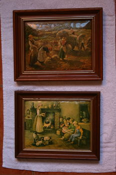 Paintings X 2 porcelain of Limoges, France,