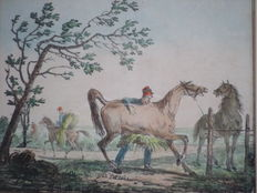 Carle Vernet (1758 – 1836) - An country man with horses