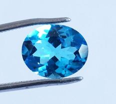 Topaz - Swiss Blue - 4.07 ct