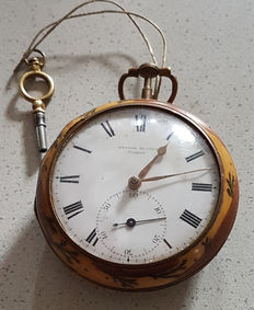 Georg Hutton London - splendid Duplex pocket watch - England circca 1810