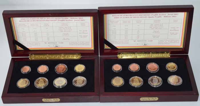 Belgium – year pack (Proof-like) 2002 and 2003.