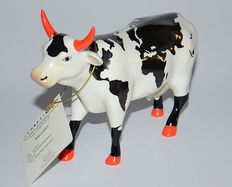 Cow parade of artist Nicholas Middleto - large with original box and certificate