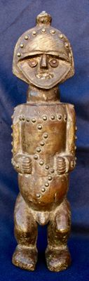 Reliquary figurine covered with copper - AMBÉTÉ - Gabon