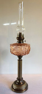 "Large and significant oil lamp ""Kosmos Brenner"" brand from Germany, 1930s"