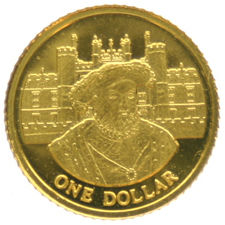 Cook Islands – 1 Dollar 2006 'Henry VIII' – 1/25oz gold