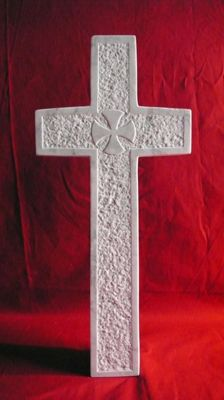 Small cross in white marble - France - 19th