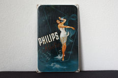 Nostalgic enamel advertising sign for Philips Radio - late 20th century.