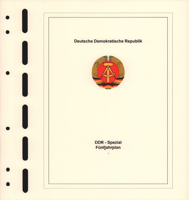 GDR of East Germany 1953/57 - collection, suitable album sheets and suitable album for sale