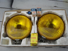 A SET of beautiful and new fog lights, diameter 180 mm Brand F E K from the DDR and from the 1970s and 1980s.