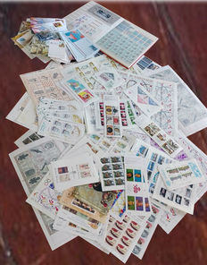 Spain - lot of stamps, block sheets, folios, cards, mini folios, airmail letters and postcards.