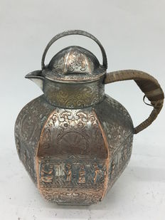 Silver on copper jug from early 1900s England