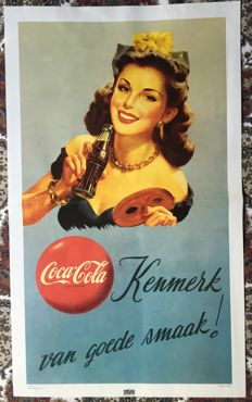 Coca cola ( 58 X 34 ) from 1963 new very well preserved