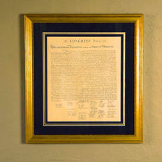 USA Declaration of Independence - 20th century replica