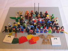 Super Heroes - 58 Lego minifigures + accessories