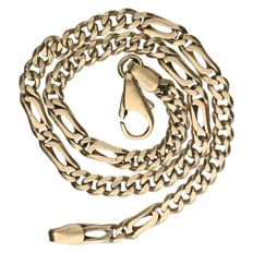 14 kt yellow gold curb link bracelet Length: 24 cm.