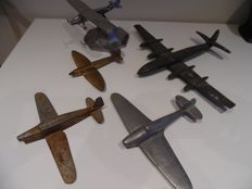 A collection of metal airplane models