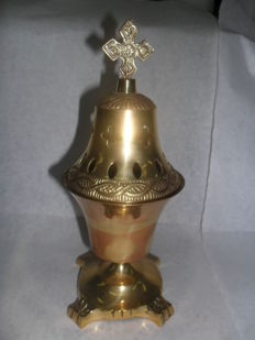 Bronze Oil lamp Greece 20th century