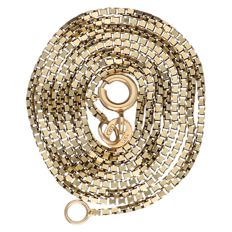 14 kt yellow gold Venetian link necklace – Length: 50.8 cm.