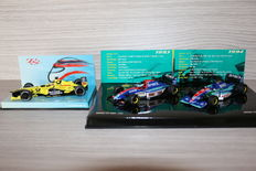 Minichamps - Scale 1/43 - Lot with 3 models: 1 x Jordan Honda 2002 test car & 1 x Jordan set with Jordan Hart 193 & 194