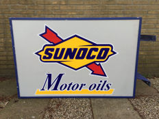 Sign - Sunoco Motor Oils - ca. 1970