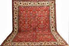 nice old hand-knotted  Persian carpet, Tabriz, 396x 290  cm, made in Iran mid of 20th