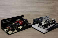 Minichamps - Scale 1/43 - Lot with 2 models: Toro rosso STR2 - Driver: S. Vettel 2007 & BMW Williams FW27 - Rijder: S. Vettel 2005