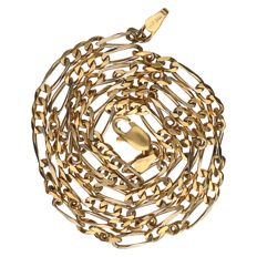 18 kt yellow gold Figaro link necklace Length: 50.5 cm