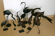 Beautiful metal birds.
