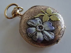Women's vintage pocket watch necklace pendant approx. 1900