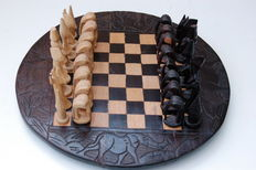 African chess set from Tanzania.