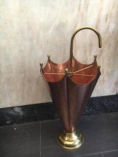 Umbrella Stand in Hammered Copper from the Second Half of the 20th Century,