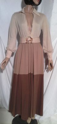 Louis Feraud- long dress in a 'hippie/chic' style.